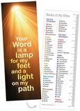 Boekenleggers / Your Word is a lamp_