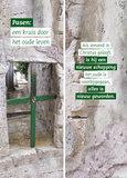 Boekenleggers / Pasen een kruis door het oude leven_