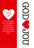 Boekenleggers / God houdt van jou - Johannes 3:16_
