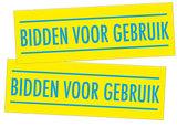 Stickers / Bidden voor gebruik_