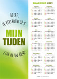 Boekenleggers  / Mijn tijden zijn in Uw hand - kalender 2021_