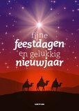 Gemengde set kerst- en nieuwjaarskaarten_