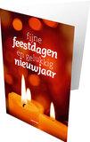 Gemengde set dubbele kerst- en nieuwjaarskaarten_