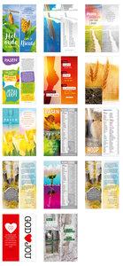 Gemengde set met 14 boekenleggers - Pasen