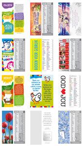 Gemengde set met 12 boekenleggers - Kinderen