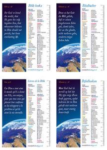 Gemengde set boekenleggers in 4 talen