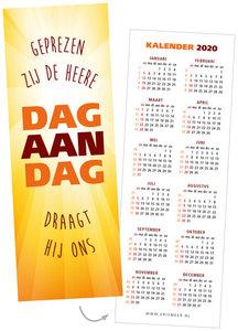 Boekenleggers | Dag aan dag draagt Hij ons - kalender 2020