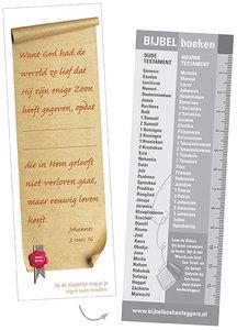 Boekenleggers / Boekrol met Johannes 3:16