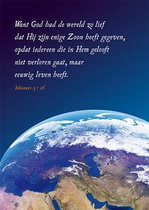 Ansichtkaarten | Want God had de wereld zo lief