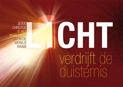 Ansichtkaarten / Licht verdrijft de duisternis