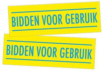 Stickers / Bidden voor gebruik