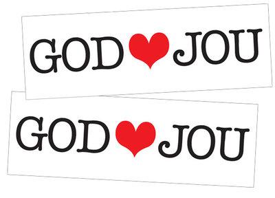 Stickers | God houdt van jou