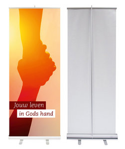 Roll-up banner / Jouw leven in Gods hand