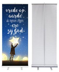 Roll-up banner | Ere zij God en vrede op aarde