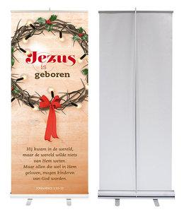 Roll-up banner | Jezus is geboren