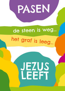 Poster | Pasen de steen is weg