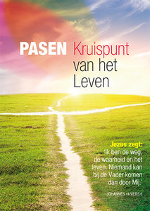 Poster / Pasen kruispunt van het leven