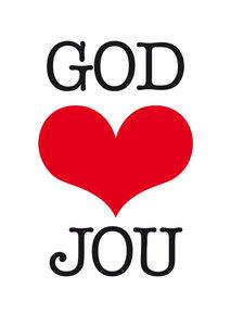 Poster | God houdt van jou