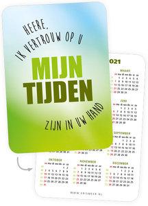 A7-kaartjes  | Mijn tijden zijn in Uw hand - kalender 2021