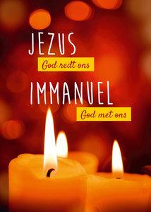 Poster  / Jezus God redt ons - Immanuel God met ons