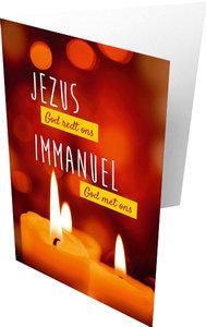 Dubbele kaarten  | Jezus God redt ons - Immanuel God met ons