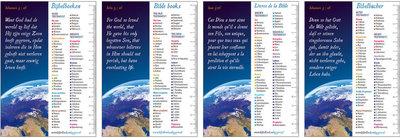 Gemengde set / Boekenleggers in 4 talen
