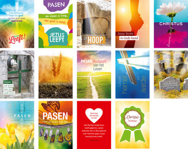 Gemengde set / Ansichtkaarten Pasen