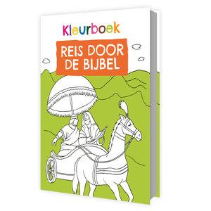 Kleurboek / Reis door de Bijbel / gebonden hardcover met 63 kleurplaten